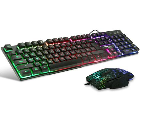 USB Light Up Gaming Keyboard Large Mechanical Wired Backlit LED Multiple Colors